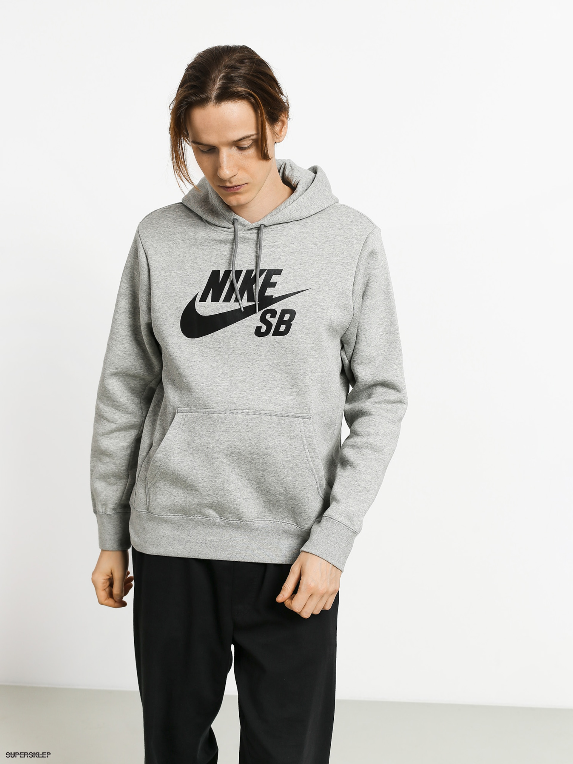 bluza nike sb icon top dk grey heatherblack