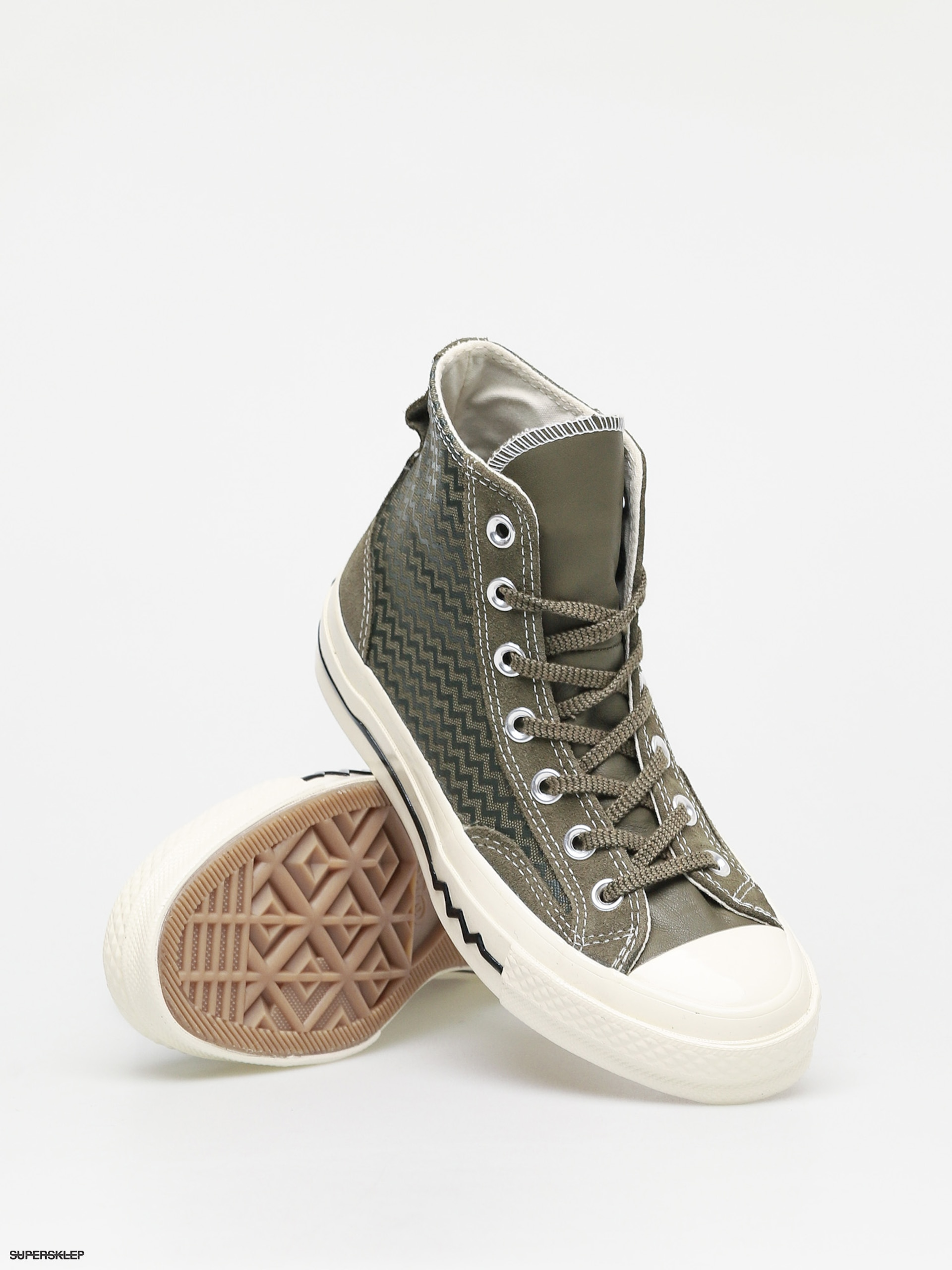 Trampki Converse Chuck 70 Hi Leather Wmn (vltg utitlity greenfield surplus)