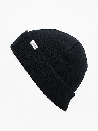 Czapka zimowa Real Beanie Lower Cuff (black/white)