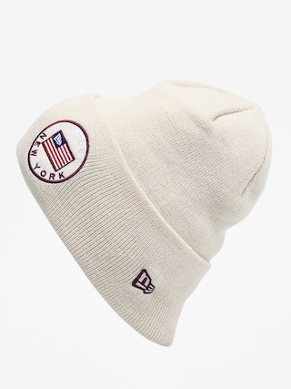 Czapka zimowa New Era Flagged Cuff Knit (stone)
