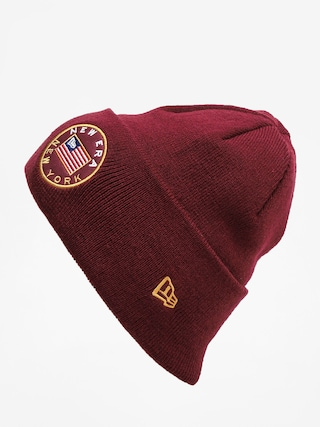 Czapka zimowa New Era Flagged Cuff Knit (maroon)