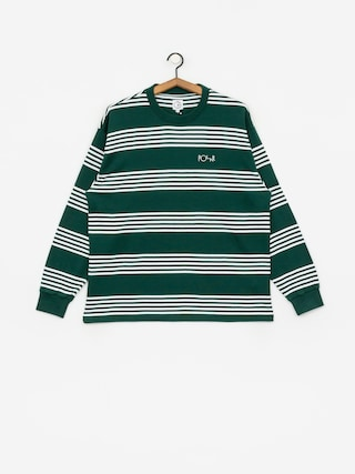 Longsleeve Polar Skate Striped (dark green)