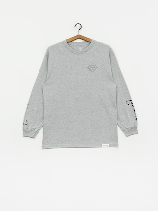 Longsleeve Diamond Supply Co. Double Read (heather grey)