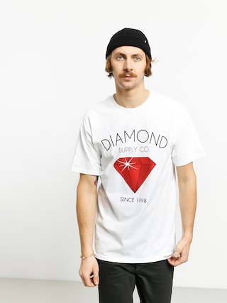 T-shirt Diamond Supply Co. Classic Diamond (white)