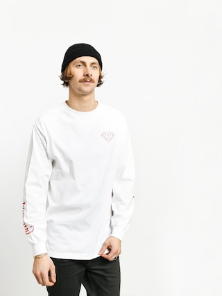 Longsleeve Diamond Supply Co. Double Read (white)