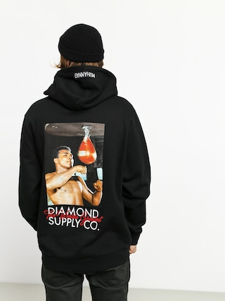 Bluza z kapturem Diamond Supply Co. Dmnd X Muhammad Ali Worlds Greatest HD (black)