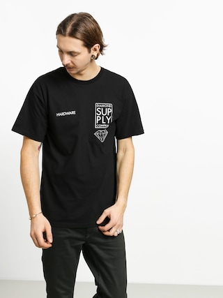 T-shirt Diamond Supply Co. Stacked Type (black)