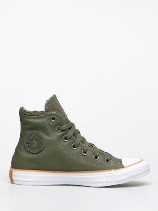 Trampki Converse Chuck Taylor All Star Hi Faux Leather Wmn (field surplus/white/honey)