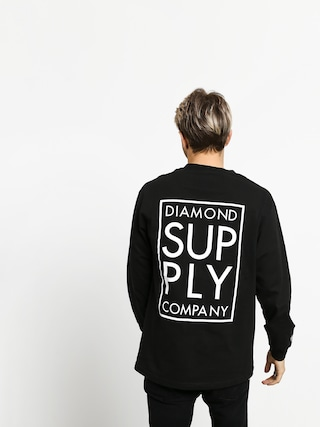 Longsleeve Diamond Supply Co. Stacked Type (black)