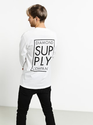 Longsleeve Diamond Supply Co. Stacked Type (white)