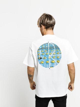 T-shirt Polar Skate Dragons Nest Fill Logo (white)