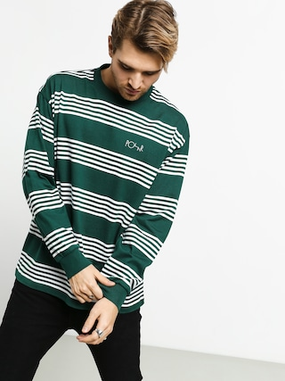 Longsleeve Polar Skate Striped (dark green)