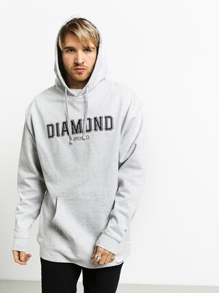 Bluza z kapturem Diamond Supply Co. Sf Diamond HD (heather grey)