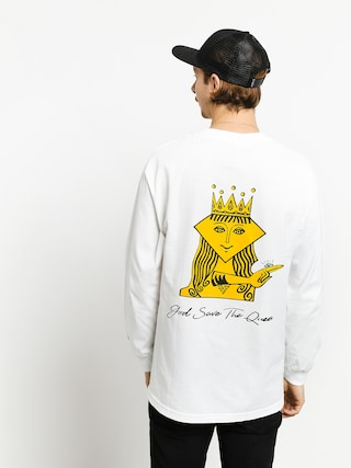 Longsleeve Diamond Supply Co. The Queen (white)