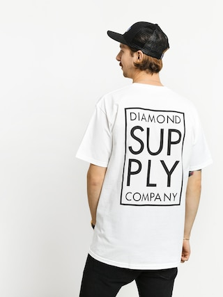 T-shirt Diamond Supply Co. Stacked Type (white)