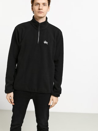 Bluza Stussy Basic Polar Fleece Mock (black)