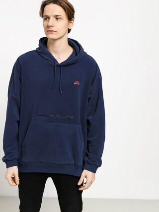 Bluza z kapturem Nike SB Novelty HD (midnight navy/bright crimson)