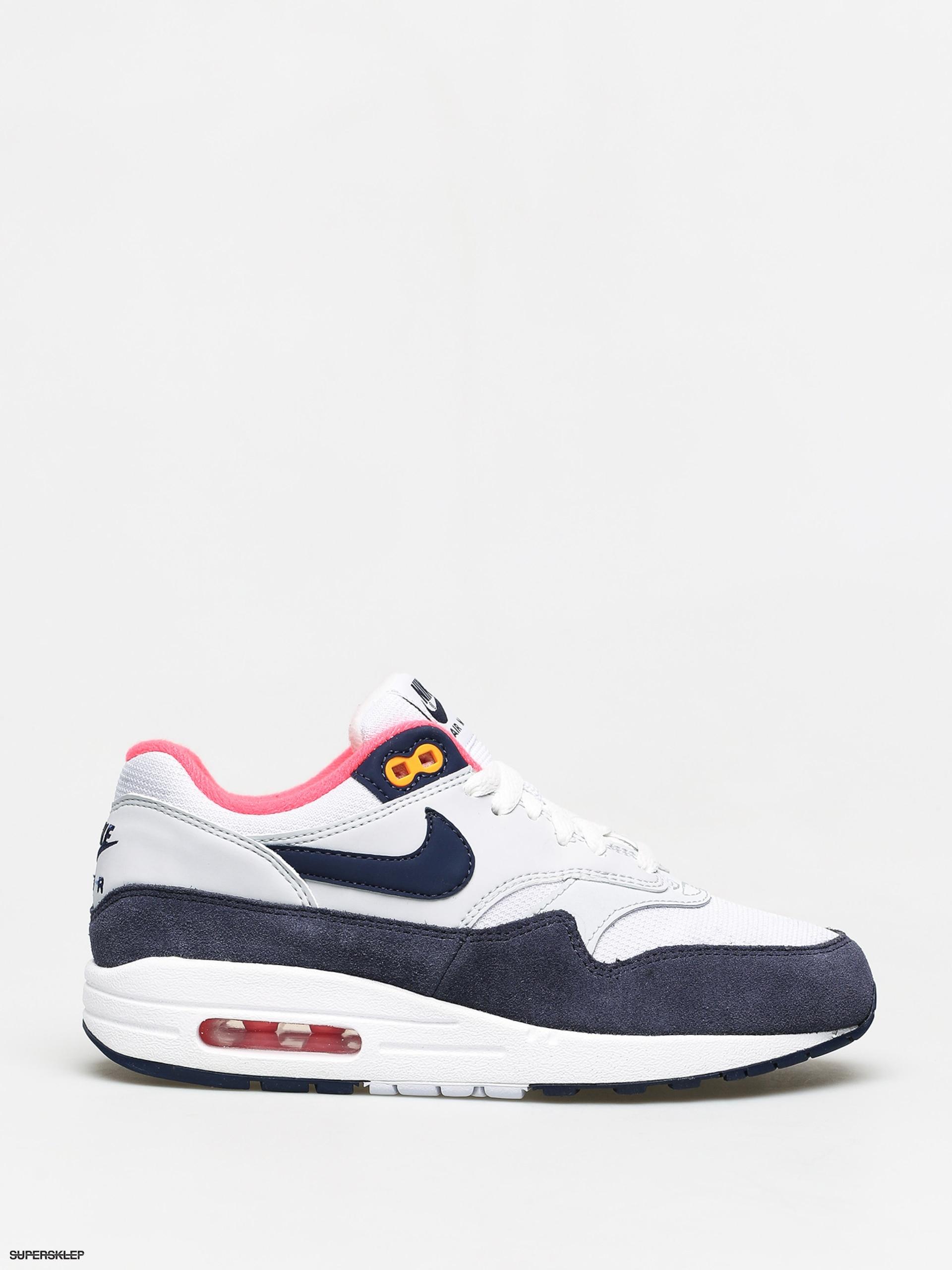 Buty Nike Air Max 1 Wmn (whitemidnight navy pure platinum)