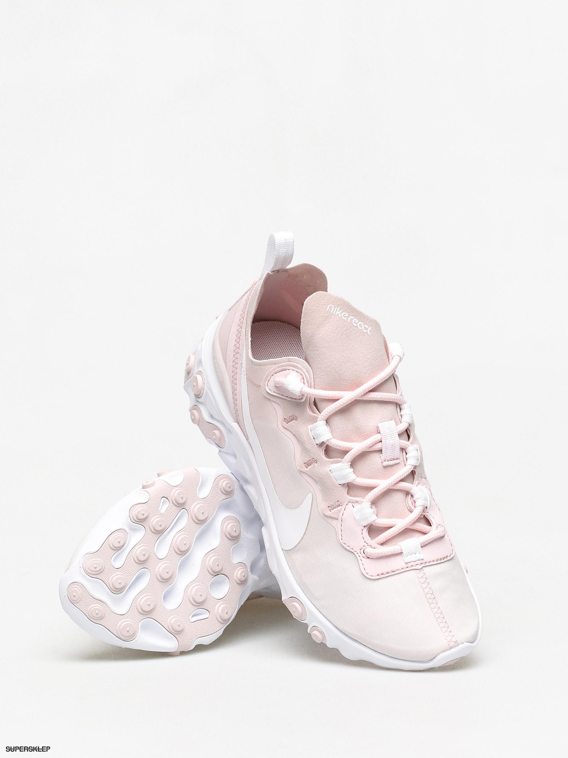 Buty Nike React Element 55 Wmn (pale pinkwhite white pale pink)