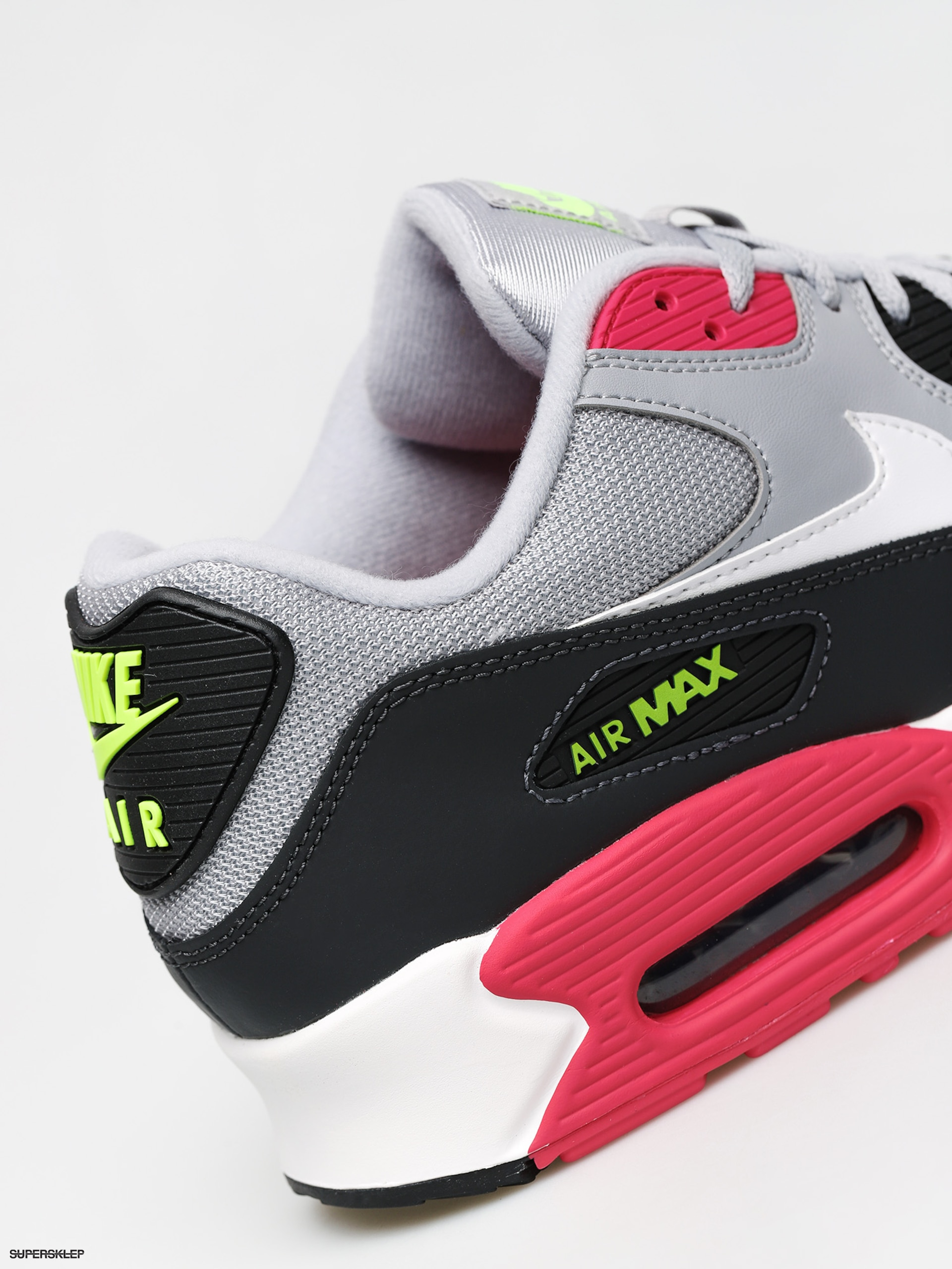 Buty Nike Air Max 90 Essential (wolf greywhite rush pink volt)