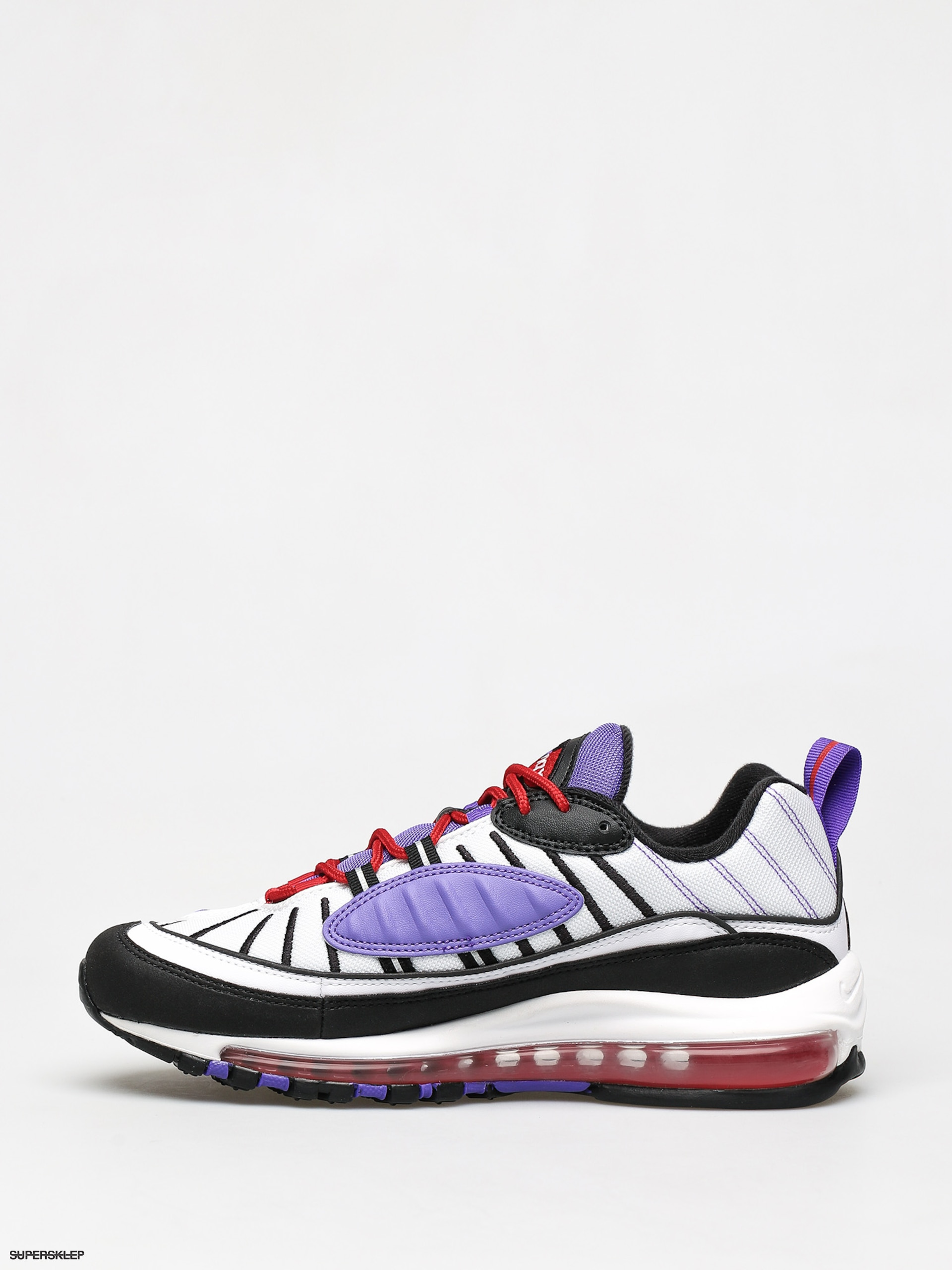 Air Max 97 Sneaker In Black White Psychic Purple