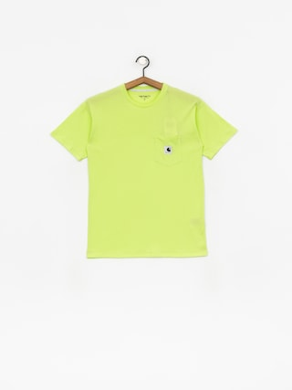 T-shirt Carhartt WIP Carrie Pocket Wmn (lime/ash heather)
