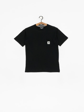 T-shirt Carhartt WIP Carrie Pocket Wmn (black/ash heather)