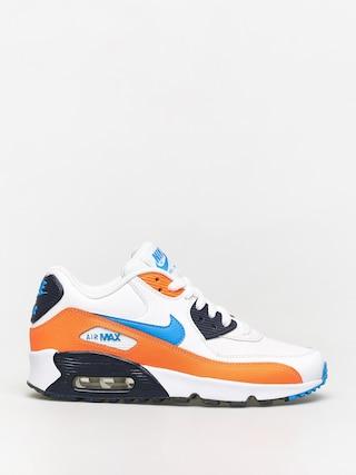 Buty Nike Air Max 90 Ltr Gs (white/photo blue total orange)