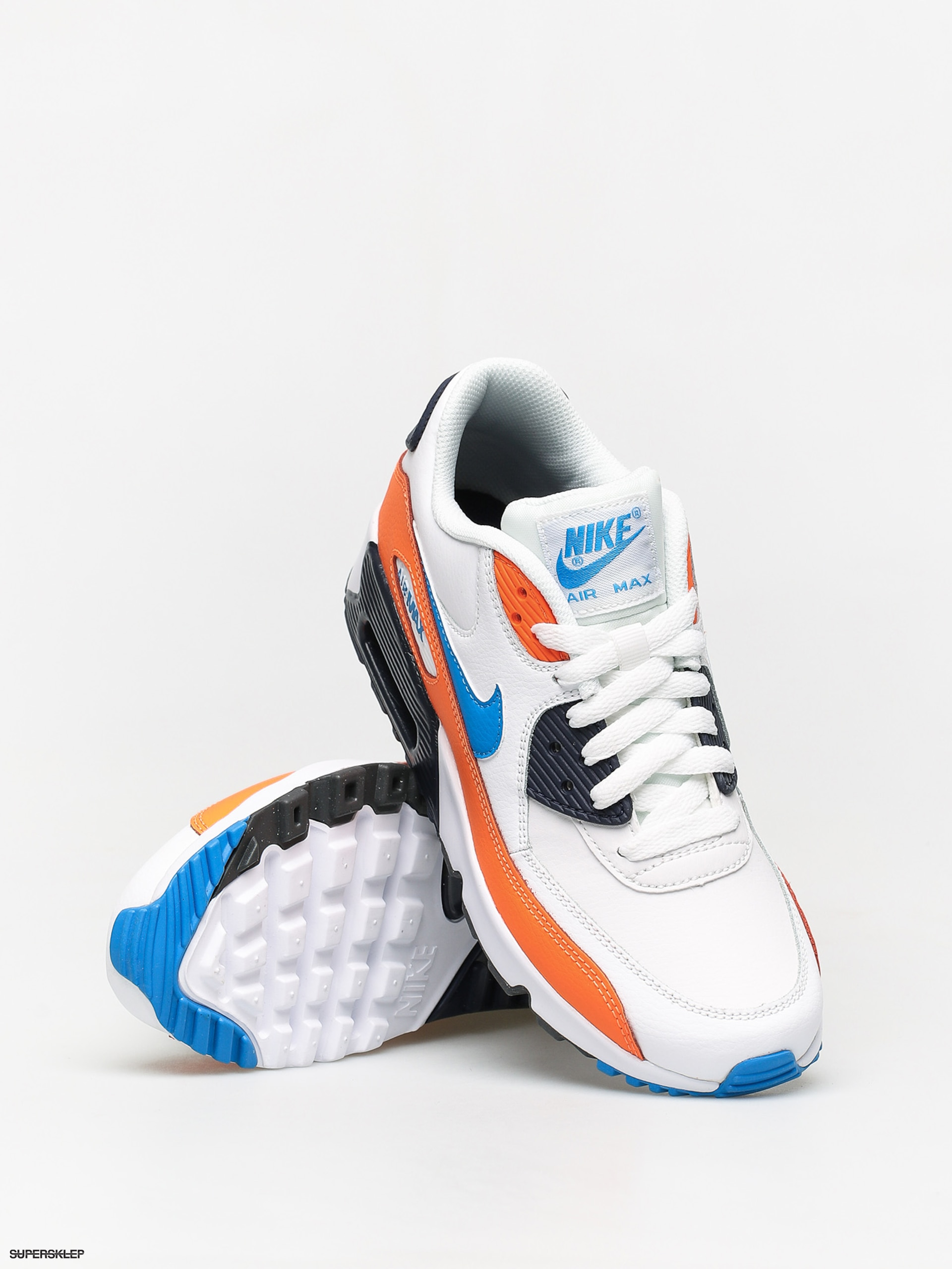 Buty Nike Air Max 90 Ltr Gs (whitephoto blue total orange)