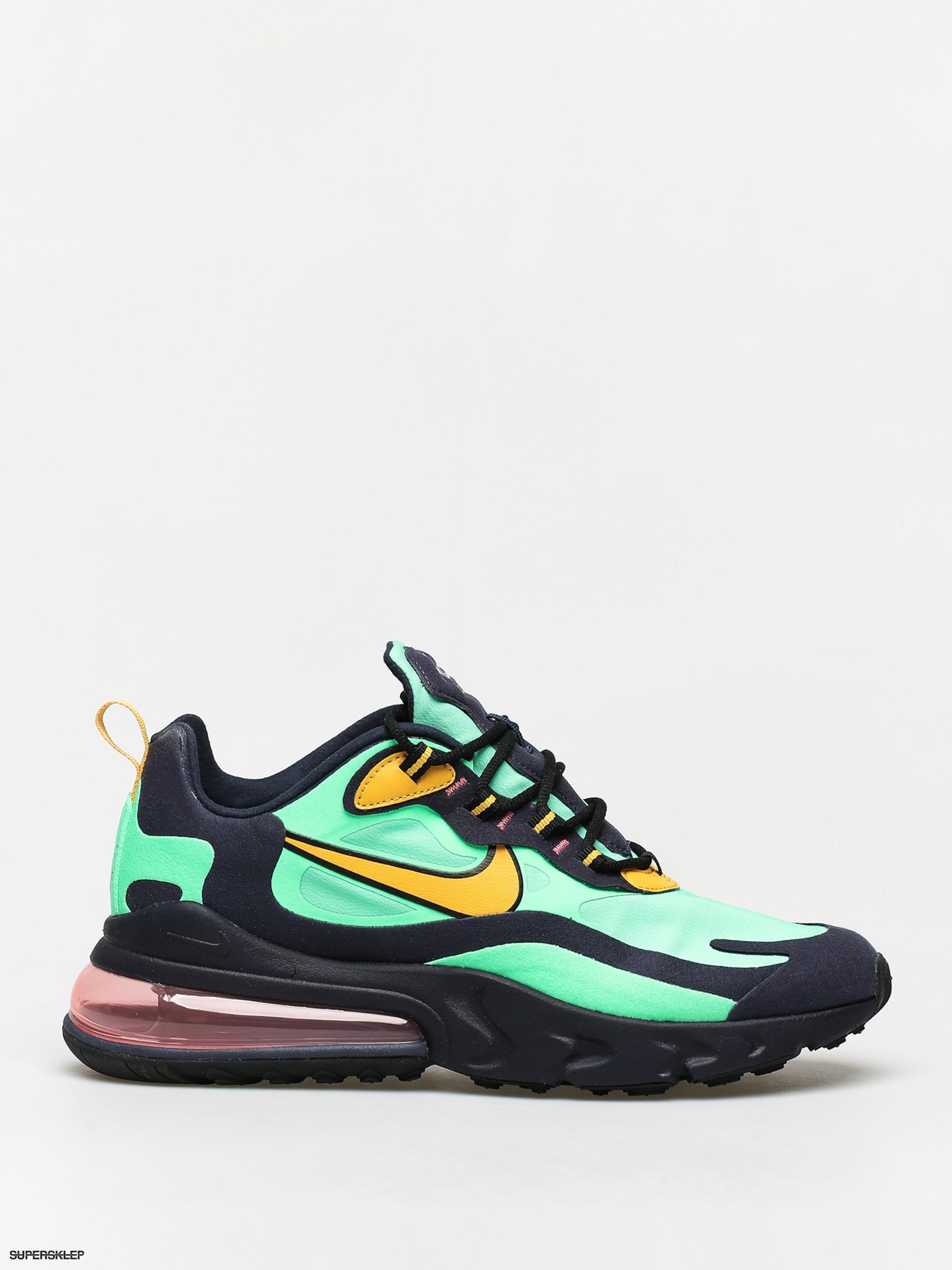 Buty Nike Air Max 270 React (electro greenyellow ochre obsidian)