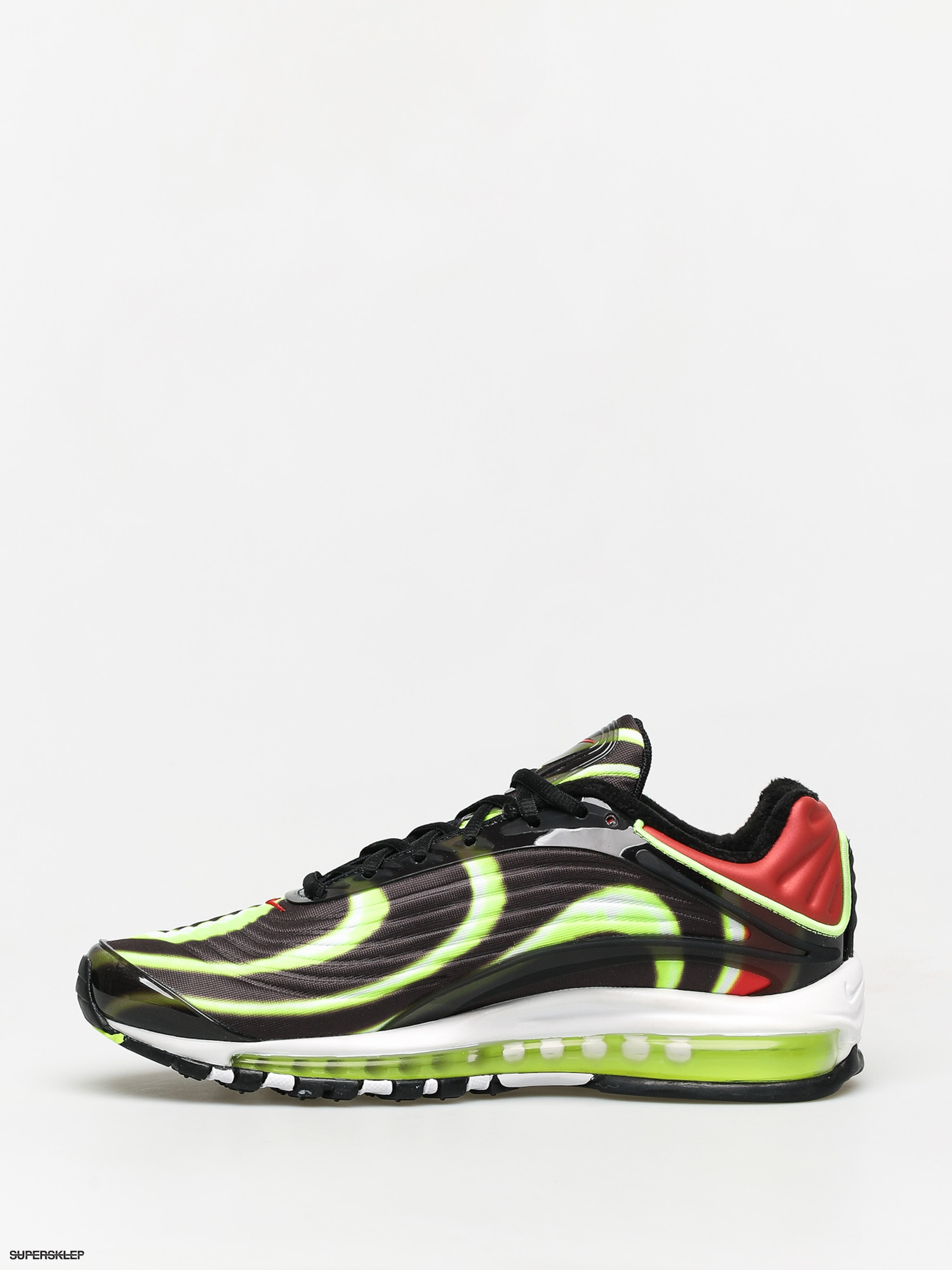 Buty Nike Air Max Deluxe (blackvolt habanero red white)