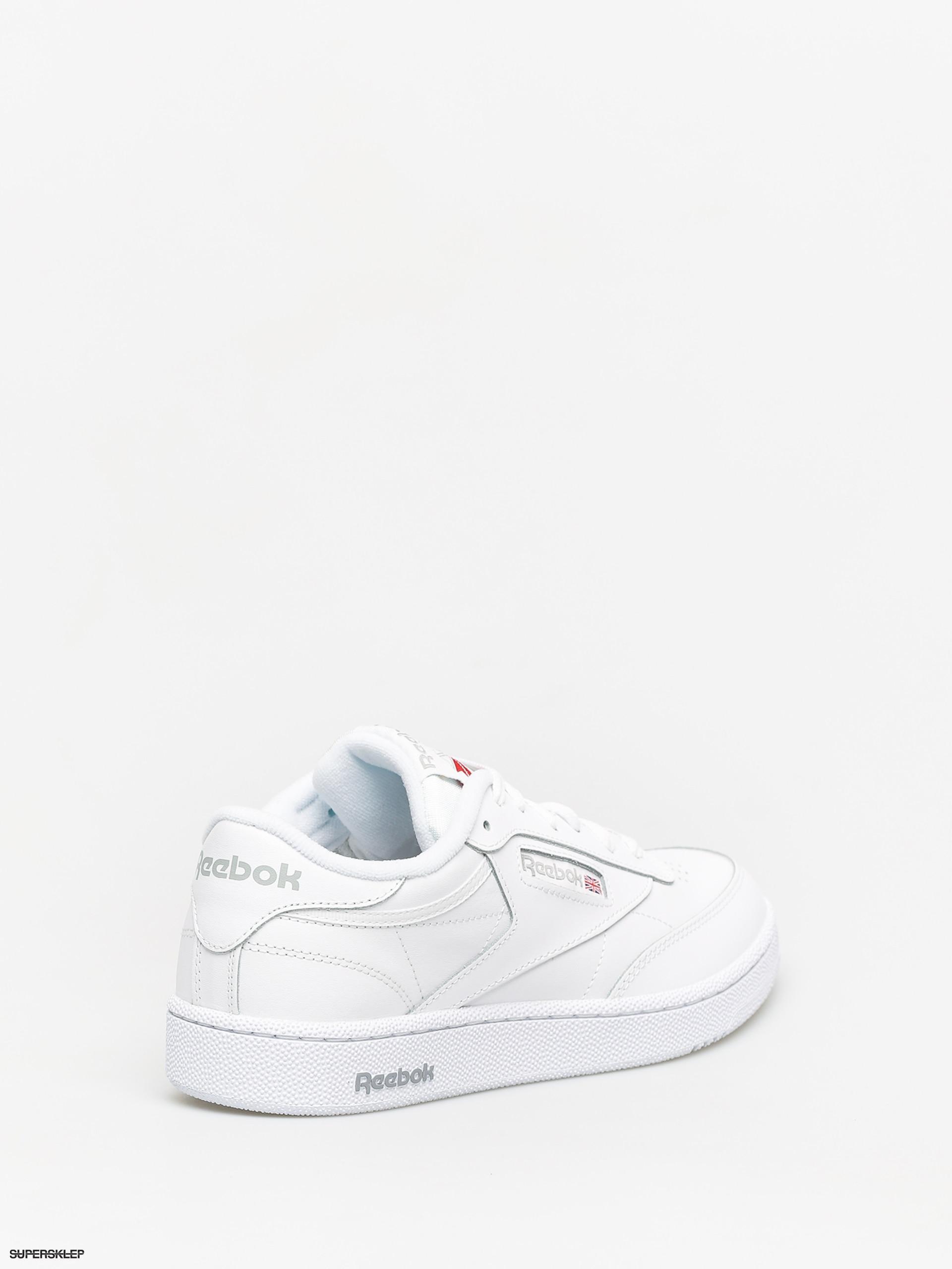 WAS $70 White// Sheer Grey Reebok Club C 85 AR0455 Tennis Sneaker