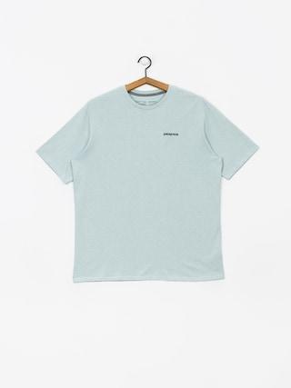 T-shirt Patagonia Logo Responsibili (big sky blue)