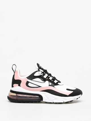 Buty Nike Air Max 270 React Wmn (black/white bleached coral metallic gold)