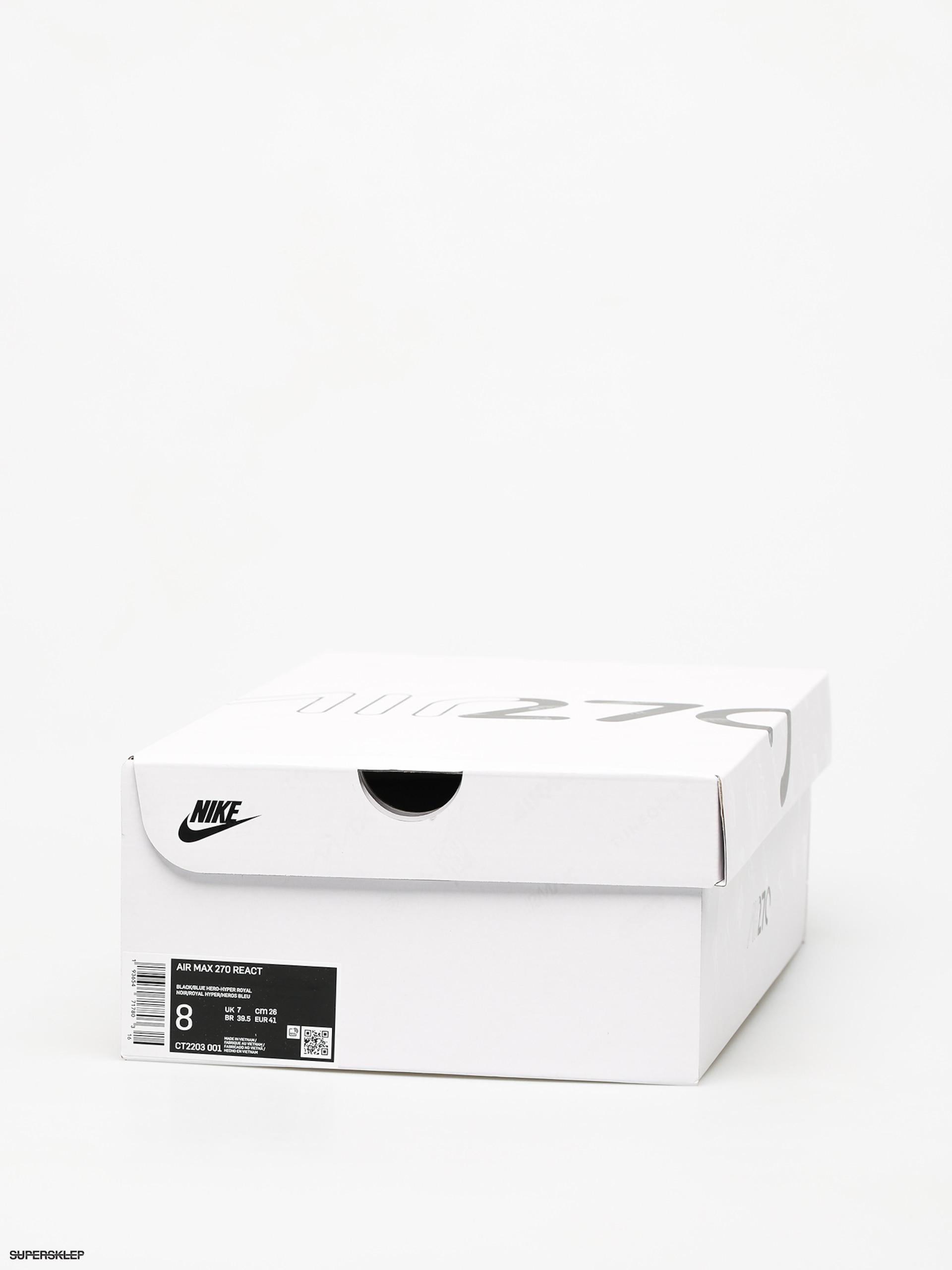 Buty Nike Air Max 270 React (blackblue hero hyper royal cool grey)