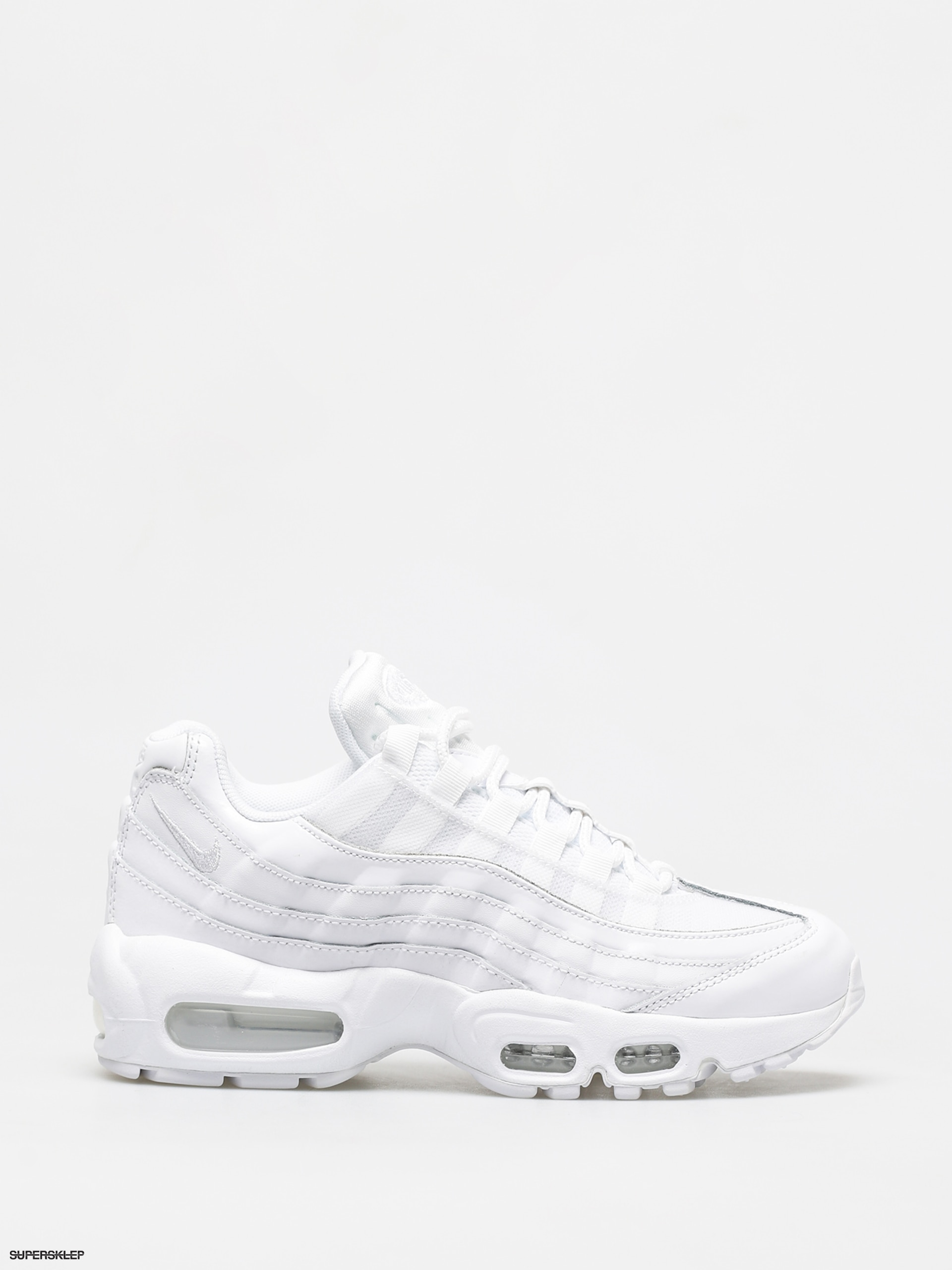 Nike Air Max 95 Trainers In All White White Sneakersy