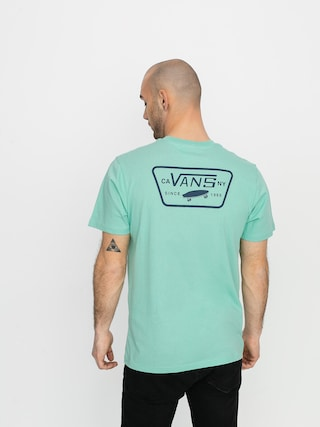 T-shirt Vans Full Patch Back (dusty jade green/drs bls)
