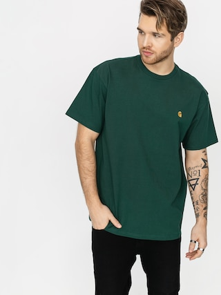 T-shirt Carhartt WIP Chase (treehouse/gold)