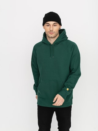 Bluza z kapturem Carhartt WIP Chase HD (treehouse/gold)