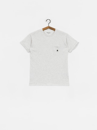 T-shirt Carhartt WIP Carrie Pocket Wmn (ash heather/white)