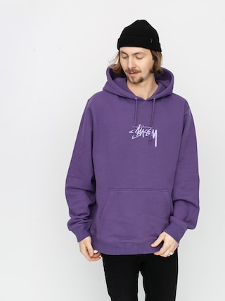 Bluza z kapturem Stussy Stock Logo App HD (purple)