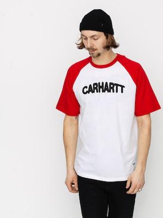 T-shirt Carhartt WIP Acre Script (white/etna red/black)