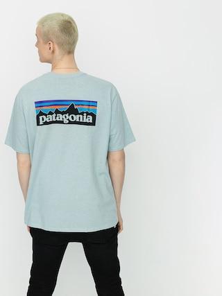 T-shirt Patagonia P6 Logo Responsibili (big sky blue)