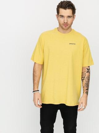 T-shirt Patagonia P6 Logo Responsibili (surfboard yellow)