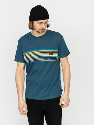 T-shirt Quiksilver Slab Pocket (majolica blue heather)