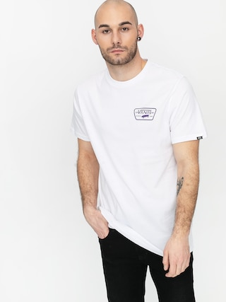 T-shirt Vans Full Patch Back (white/heliotrope)