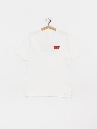 T-shirt Brixton Stith Stnd (white/maroon)