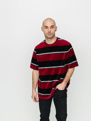 T-shirt Stussy Velour Stripe (wine)
