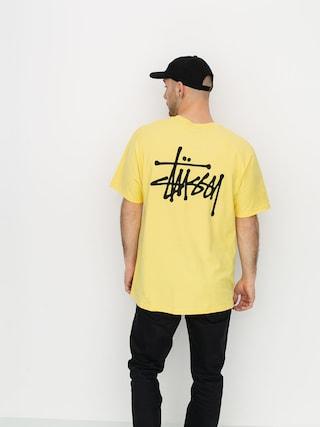 T-shirt Stussy Basic Stussy (yellow)