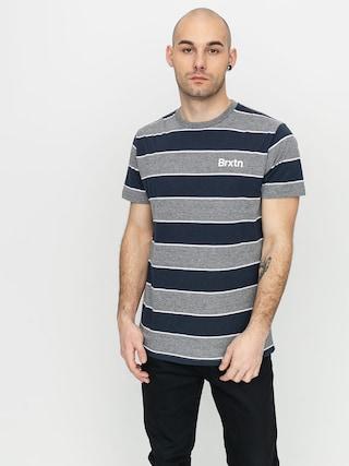 T-shirt Brixton Hilt Print (heather grey/washed navy)